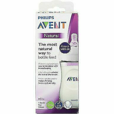 5 Count Philips AVENT Natural Feeding 9 oz Bottle 1M+
