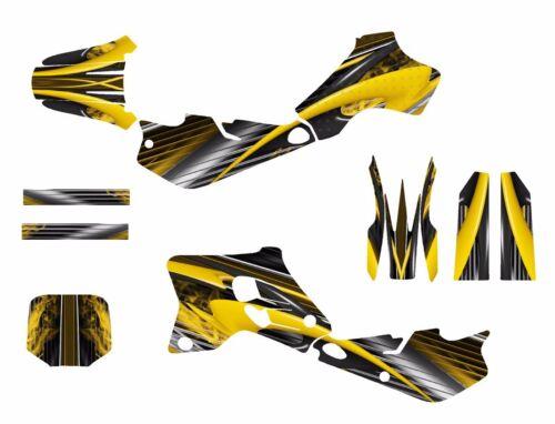 YZ80 graphics 1993-2001 dirt bike decal kit #3333-Yellow Free Custom Service