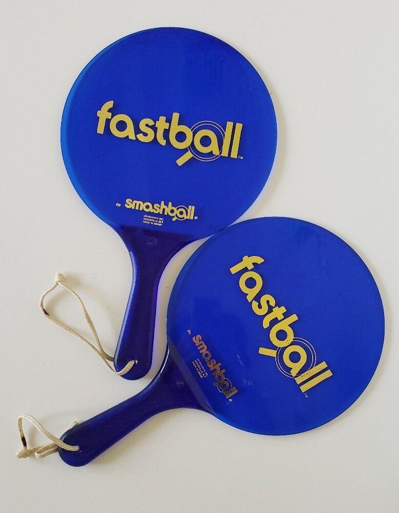 Smashball, Paddles, blueee, Vintage, Durable, Acrylic, Israel. LC