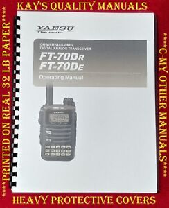 Yaesu-FT-70-Dr-De-Operating-Manual-On-32LB-Paper-C-MY-OTHER-MANUALS
