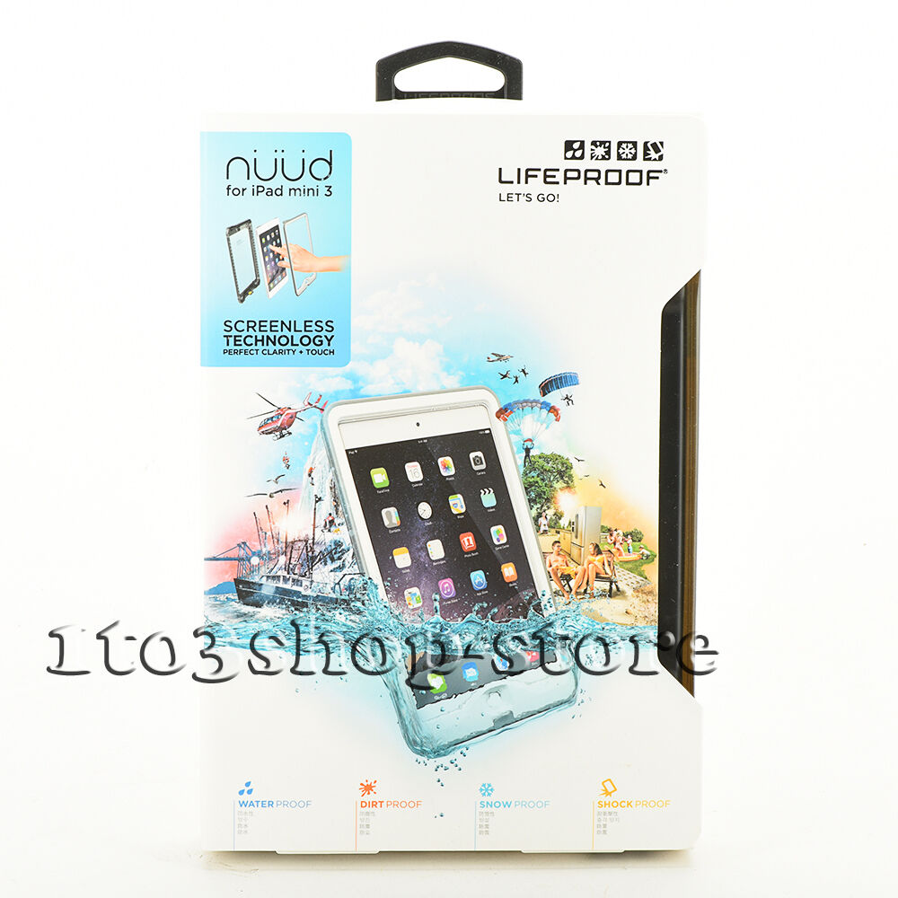 pretty nice 6298a 8ec6e Details about LifeProof NUUD iPad Mini 1 Mini 2 Mini 3 Waterproof Case  AVALANCHE (WHITE/GRAY)