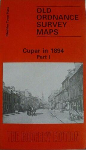 Old Ordnance Survey Map Town Plans Cupar Flintshire Scotland 1894 Part 1 New