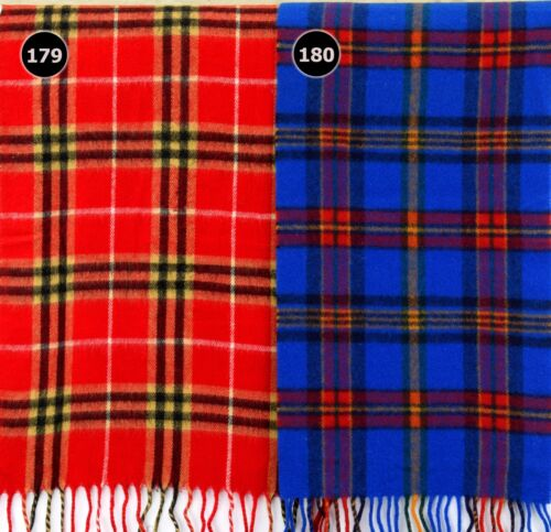 Sciarpa tartan morbido con motivo a Plaid Check scialle di lana lana acrilica SCOZIA 179-180