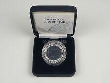 *** 1 Lats NIOB Münze LETTLAND 2004 Coin of time I Latvia Coin KMS vor Euro ***