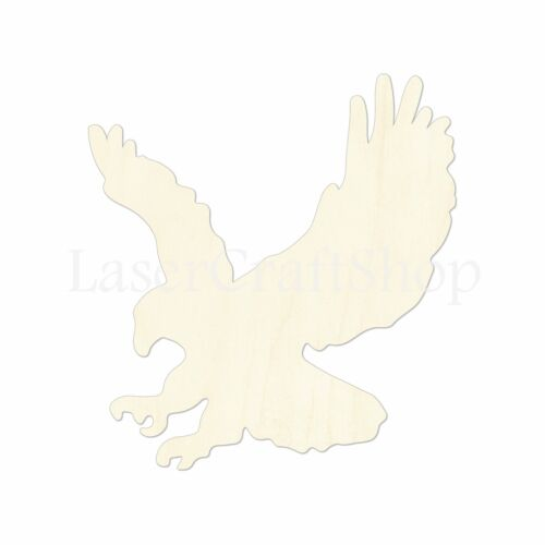 Eagle Silhouette Wooden Cutout Shape Tags Ornaments Laser Cut #1081
