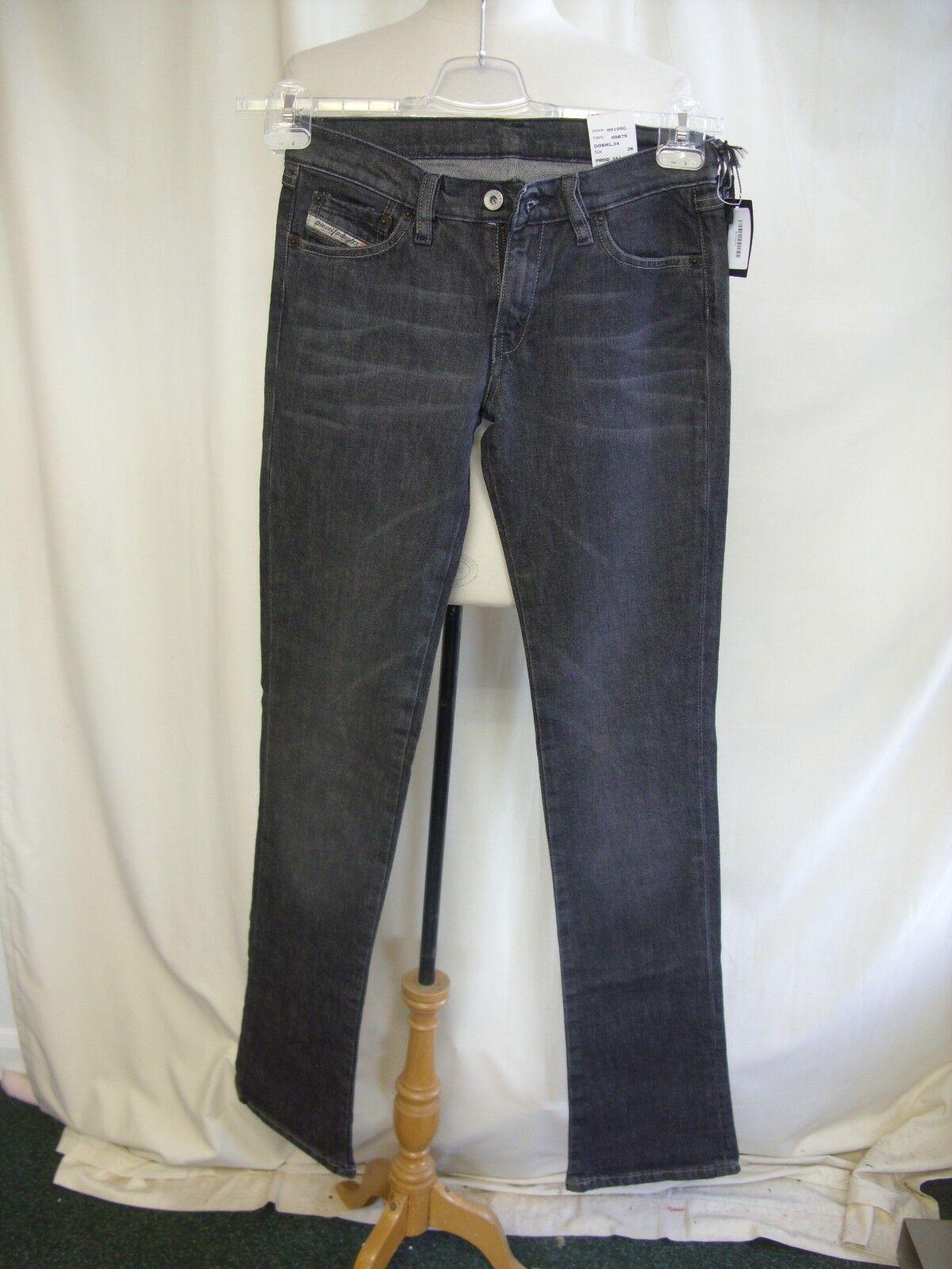 Ladies Jeans Diesel grau stonewash waist 26  inside leg 35  slim stretch 7842