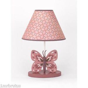Details About Cocalo Emilia Lamp Base Shade Erfly S Garden Nursery Mauve Purple Pink