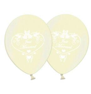 Just-Married-Dove-12-034-Printed-Ivory-Latex-Balloons-Pack-of-5