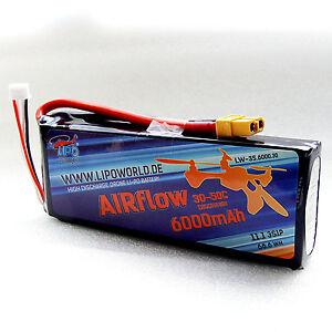 Lipo-World-AIRflow-Lipo-Akku-3S-11-1V-6000mAh-30C-50C-DJI-Drohne-Copter-Quadro