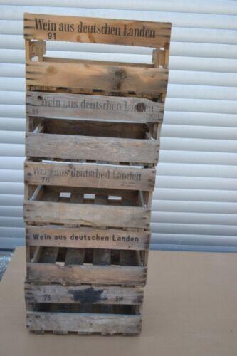 caja de pino bricolaje Shabby Chic weinstiege 6 deutsche vieja vino cajas B-Ware