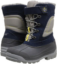 Khombu Eric Blue / Boys Girls Kids Waterproof Thermal Winter Snow Boots Size 1