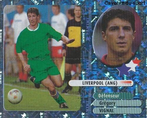 GREGORY VIGNAL # STARS DU FOOT LIVERPOOL.FC ROOKIE STICKER  PANINI FOOT 2003