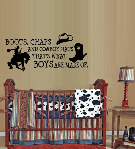 Horses Boots Chaps and Cowboy Hats #3  ~  Wall Decal
