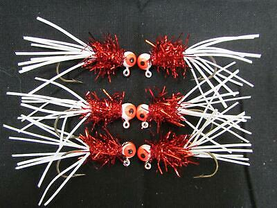 6 Kingfisher Elite Pro Design Crappie Jigs 1//16 oz Rubber Skirt Eagle Claw Hook!