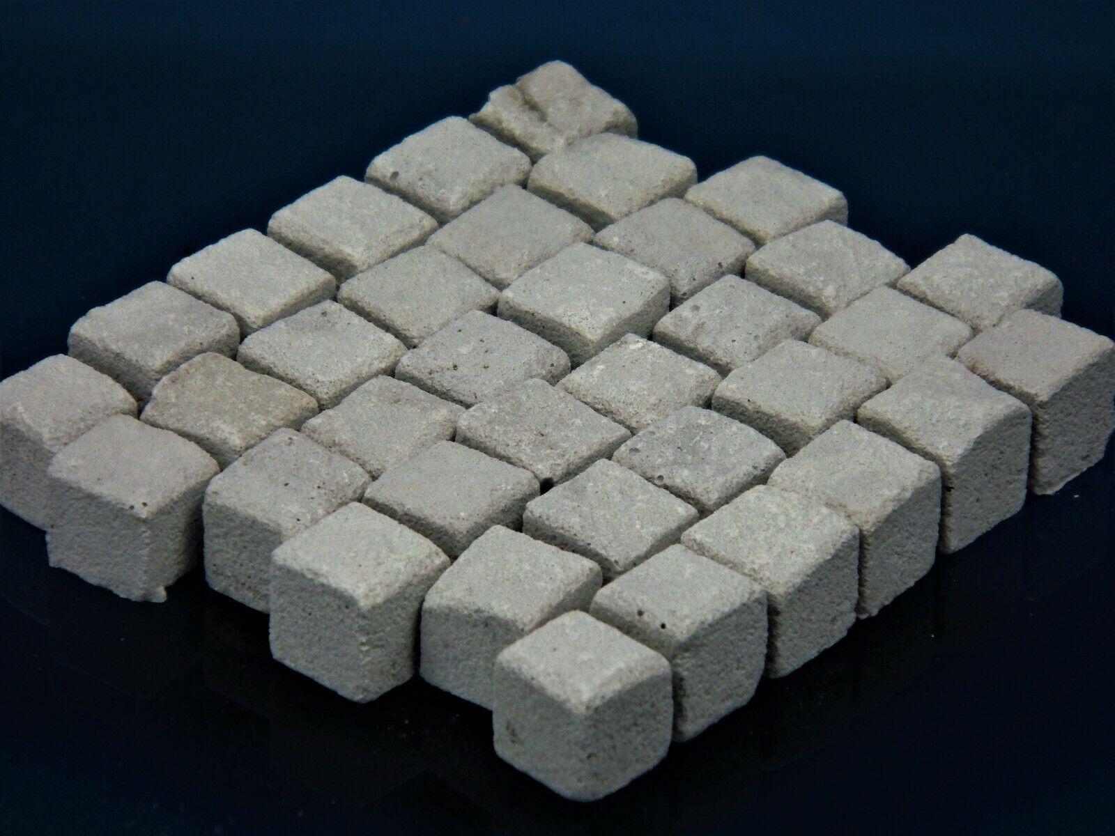 Diorama Zubehör, 600 Keramik Pflastersteine 12 mm granit grau, 1 9