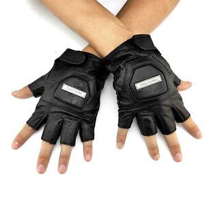 Gothic Fingerless Skull Biker Cycling Sport Gloves for Men//Women