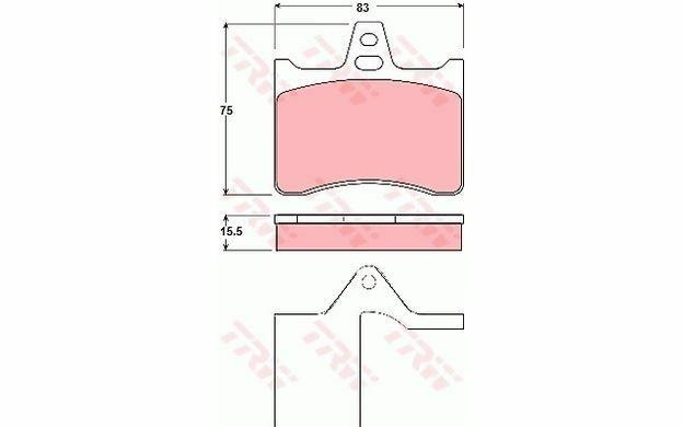 4x TRW Pastiglie Freno Posteriore GDB1284 - Auto Pezzi Mister Auto