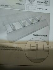 Store Display Fixtures Acrylic Pusher Assembly For Multiple Merchandise