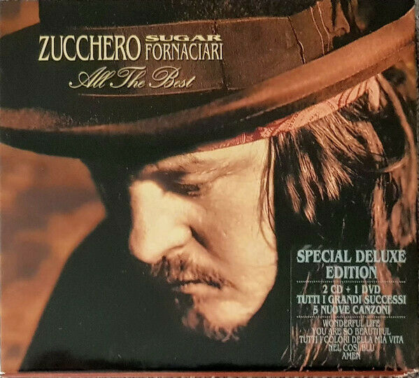 2 CD 1 DVD Zucchero Sugar Fornaciari  ‎– All The Best Eu 2007