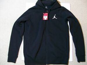 NEW W TAGS MENS SZ XL AIR JORDAN HOODIE FULL ZIP BLACK SHOES XI IV V ... b2a44b9c68d1