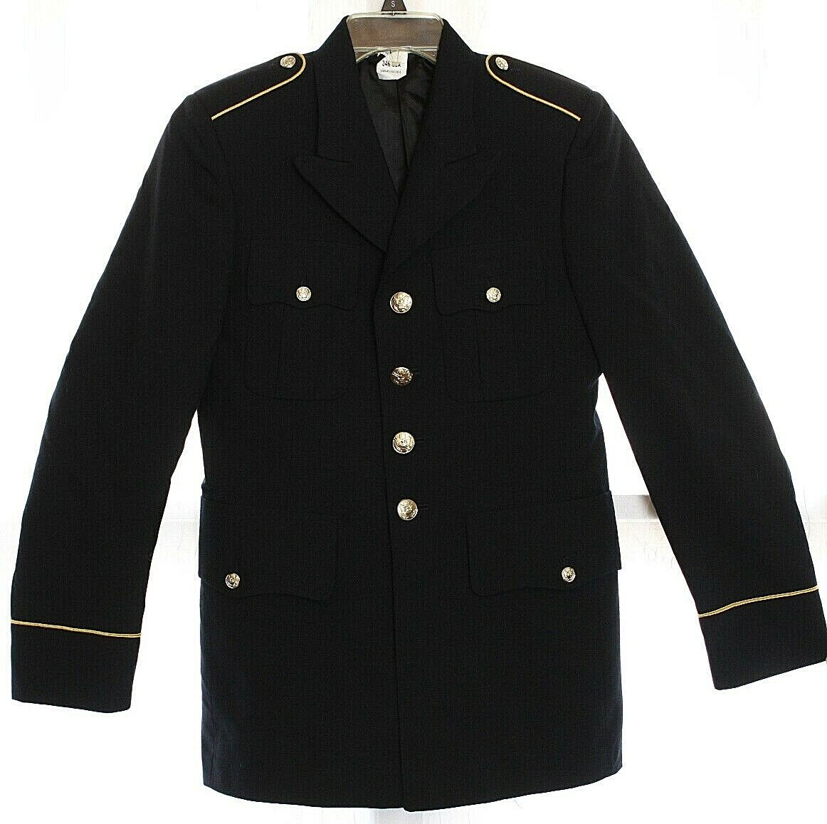 * Vintage Department of Defense Military Army Agent Uniform Jacket Small Black