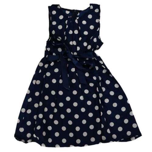 Neue Kind Kinder Kleidung Tupfen Druckkleid laessig Maedchen U4P3