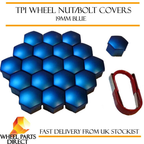 TPI Blue Wheel Bolt Nut Covers 19mm Nut for Porsche Cayman 981 13-16