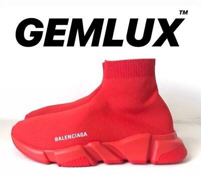 Kleidung & Accessoires Herrenschuhe Balenciaga Speed Sock Sneakers Red Size 41 Fits Uk 8 Durchblutung Aktivieren Und Sehnen Und Knochen StäRken
