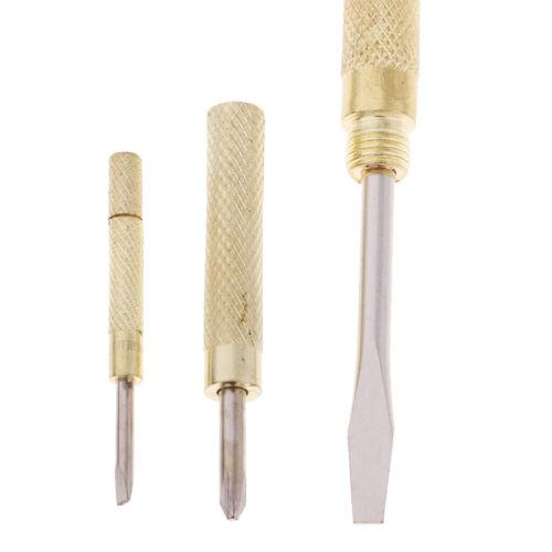 Kleiner Messinghammer 3pcs Schraubenzieher für Holzbearbeitungs Haushalts