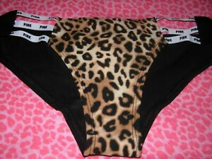 1cc6985fb4ac Victoria's Secret PINK SEXY Strappy Cheekster Cheeky Panty LEOPARD ...