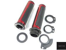 ASV Alloy Trim Handlebar Grips Set Throttle Tube *RED Yamaha YZF-R125 Honda CBR