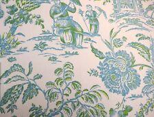 Blue Toile Asian Arcadia Lagoon Waverly Fabric