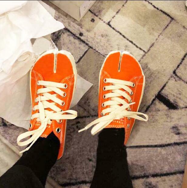 Women Canvas Split Toe Lace Up Flat Heels shoes shoes shoes Sneakers Vintage Horseshoe Bt15 92ae66