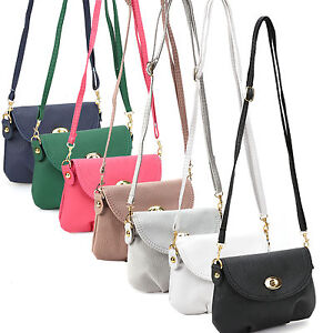 Image is loading Ladies-Small-Satchel-Leather-Handbag-Crossbody-Shoulder- Messenger- bccabb7174bdf