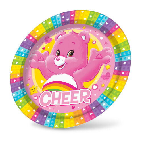 Cups Tablecover Plates Napkins Girls Care Bears Birthday Party Tableware