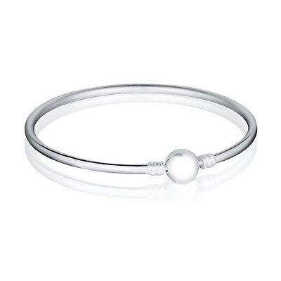 Silver Charms Bracelet Chain Bangle with Logo For Hot 925 Sterling European Bead