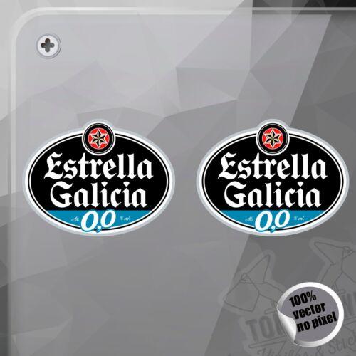 PEGATINA ESTRELLA GALICIA 0,0 MOTO GP MOTO 2 DECAL VINYL STICKER AUTOCOLLANT