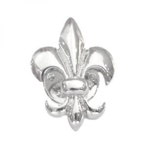 1e3f8b0d02253 Details about Silver Plated Fleur de Lys Lily Symbol Flower LAPEL PIN Badge  Present GIFT BOX