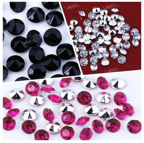 1000Pcs Pointed Back Resin Rhinestone Beads For Jewelry Making Decoration Craft