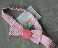 Headband Gymboree,preppy Peach,striped,bow Atop