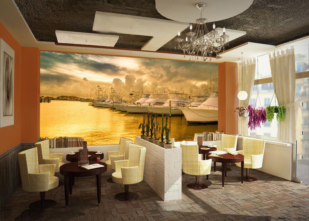 3D Hafen Schiff Himmel 7943 7943 7943 Tapete Wandgemälde Tapeten Bild Familie DE Jenny c3a1b8