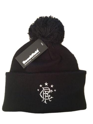 Rangers Beechfield Black Bobble Wooley Beanie Hat