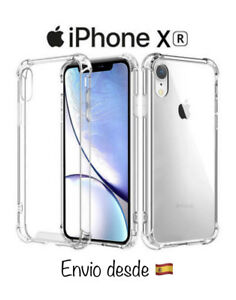 Funda Iphone X / XS TransparenteAntigolpe Bordes Silicona y