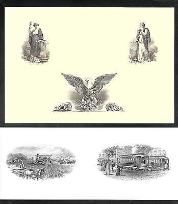 CU Two Intaglio//Engraved Vignettes Flawless Condition Engravings