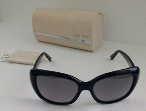 ac74fab3e9dc Image is loading Jimmy-Choo-Kalia-Square-Oversized-Sunglasses -Black-Glittergold-