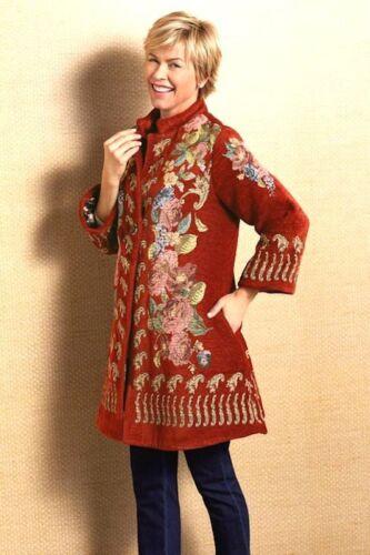 de ligne Surroundings Nwt L luxe tapisserie de florale Veste A Soft romantique zOTaqwp