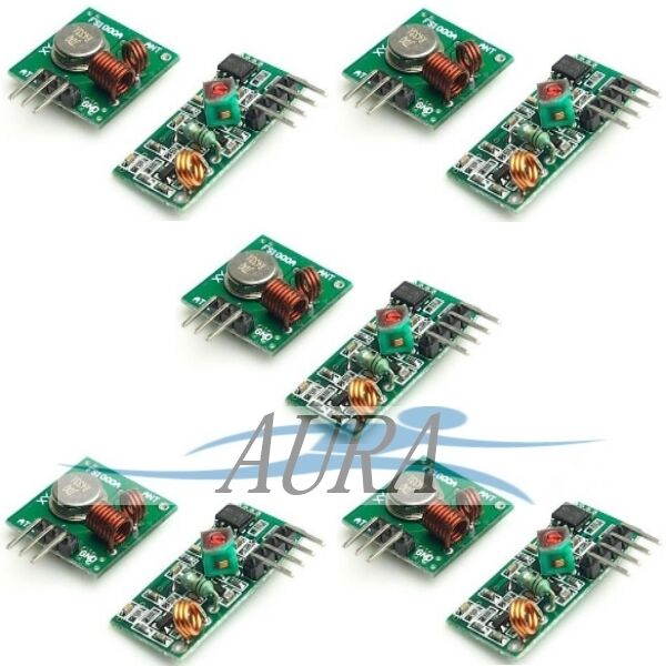 5 Pair 433mhz Transmitter + Receiver RF wireless arduino hobby ASK OOK UK A302/3