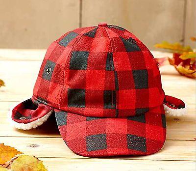 Camo Sherpa-Lined Baseball Cap Hat w//Ear Flaps One Size Hunting Warm NIP