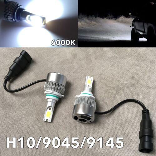 FOG LIGHTS 36W X2 3800LM LED H10 Bulbs HIGH POWER COB 6000K White W1 For JA