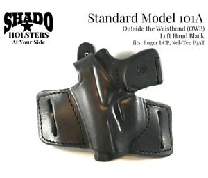 SHADO Leather Holster Standard Model 101A Left Hand Black fits Ruger LCP, KelTec